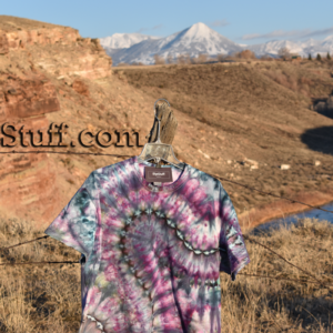 Paonia purple tie dye shirt