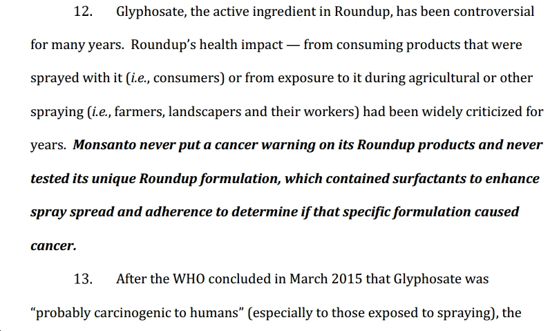 bayer suing bayer managers over cancer causing monsanto products